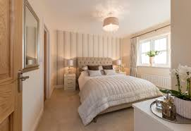 subtle creams in the master bedroom create a calming feel we love