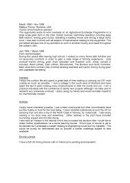 Professional Profile Resume Examples Cv Example Profile