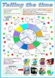 english teaching worksheets telling the time