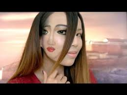 trippy u0027face in a face u0027 halloween make up youtube