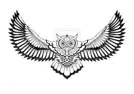 flying owls tattoo designs