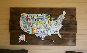 License Plate Map Eco Friendly Art Gallery Magazine License Plate Art And Jewelry