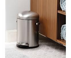 Black Bathroom Trash Can Simplehuman 10 Litre Slim Pedal Bin Black Plastic Bathroom Trash