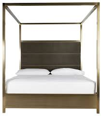 Contemporary Canopy Bed Modern Hollywood Regency Brass California King Canopy Bed