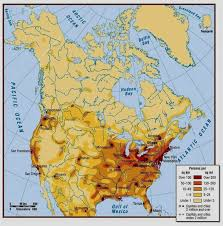 canadian map population distribution list of us states by population density united states