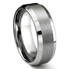 ewedding band 8mm tungsten metal men s wedding band ring in comfort fit and