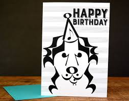 musician birthday card music note birthday card dog music