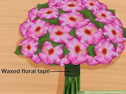 floral bouquets 3 ways to create silk floral bouquets wikihow