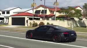 audi r8 gold twin turbo matte black audi r8 v10 acceleration on the gold coast