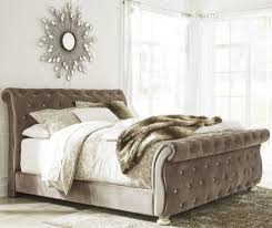 upholstered bedroom set signature design by ashley cassimore pearl silver upholstered