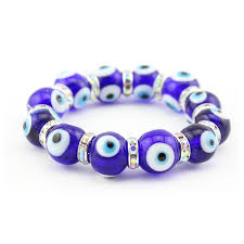 lucky beads bracelet images Turkish glass blue evil eye beads bracelet dark blue color lucky jpg