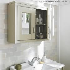 English Heritage Designer Mm Ivory  Door Bathroom Mirrored Cabinet - Bathroom cabinet mirrored 2