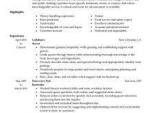 Server Resume Template Free 100 Resume Sample Server Resume Example Restaurant Resume