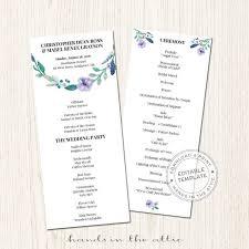 wedding program printable wedding programs archives printable stationery weddings