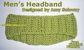 s headband men s fall or winter headband free crochet pattern