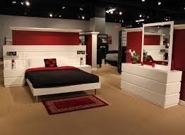Platform Bed With Nightstands Attached Creative Platform Bed With Built In Nightstands Bedroom Ideas