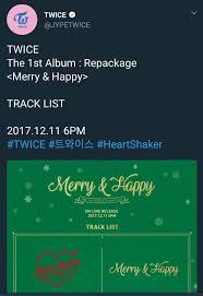 heartshaker album tracklist is out 트와이스 ㅤ amino