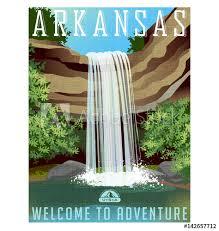 Arkansas Travel Net images Arkansas travel poster or sticker vector illustration of jpg
