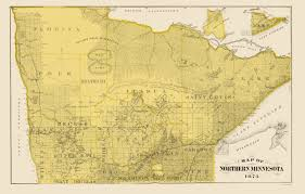 Lake Maps Mn Old State Map Northern Minnesota Andreas 1874