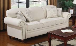 amazon com coaster 502511 norah rolled arm sofa in oatmeal tone amazon com coaster 502511 norah rolled arm sofa in oatmeal tone linen blend upholstery kitchen dining