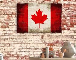 wooden canadian flag etsy