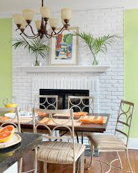 photos hgtv tropical green dining room features painted brick