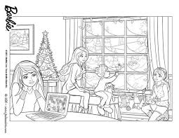 Coloriages Barbie Un Merveilleux Noël  16 coloriages Barbie