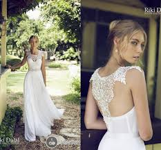 garden wedding dresses 2014 bridal dress a line scoop chiffon lace garden wedding gown