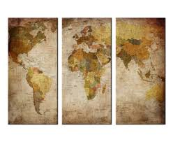 World Map Prints by Wall Art Canvas Prints Vintage World Map Picture Printing