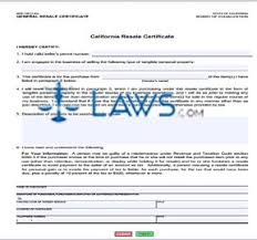 form boe 230 california resale certificate tax exemptions forms