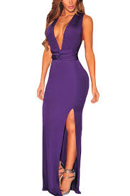 sexi maxi dresses purple v neck cross back maxi dress party dresses women