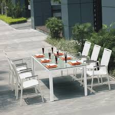Aluminium Patio Table Awesome Patio Table And Chair Sets Jade Silkscreen Glass White