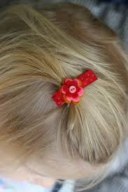 baby hair clip diy sweet easy baby hair clip pretty prudent