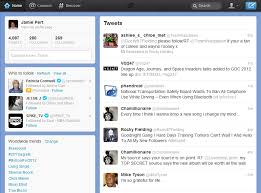 layout of twitter page new twitter design first look at new layout product reviews net