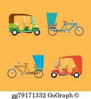 clip art vector auto rickshaw driver stock eps gg58491729 gograph