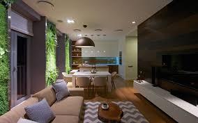 vertical gardening creates an oasis inside contemporary apartment