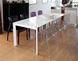 Polycarbonate Chairs Domitalia Modern Crystal Dining Chair In Polycarbonate 3 Colour