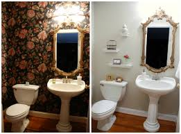 Powder Room Makeovers Photos - before and after powder room makeover www livelygreendoor com