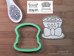 new year cookie cutters top hat with bow cookie cutter new year cookie cutter cake cookie