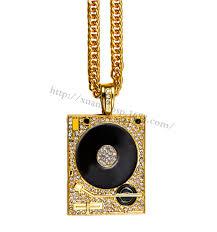 aliexpress buy nyuk gold rings bling gem 2016 fashion 24k gold men hip hop necklace cd player