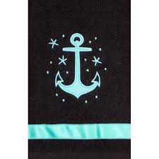 amazon com sourpuss clothing anchor bathroom hand towel set home
