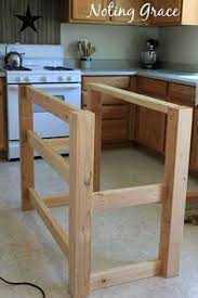 easy kitchen island gain storage and counter space for fifty dollars