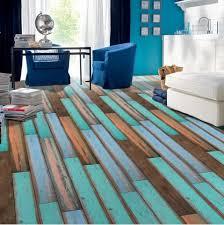turquoise vintage wood grain pattern vinyl floor sticker rosegal com