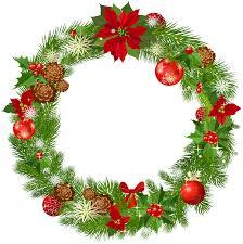 christmas wreath border clipart kid 2 clipartix