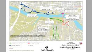 Greenbelt Austin Map by Downtown Streets To Close For Austin Symphony Fireworks Show