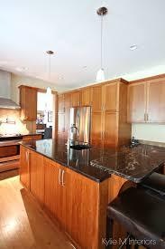 kitchen design with island black granite cherry cabinets fir