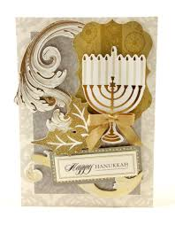 hanukkah card from the anna griffin holiday traditions card making