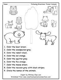following directions with color words is a fun practice activity