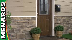 New Stone Veneer Panels For by How To Install Stone Veneer Siding Menards Youtube