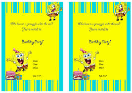 Make Your Own Invitation Cards Free Spongebob Birthday Invitations Marialonghi Com